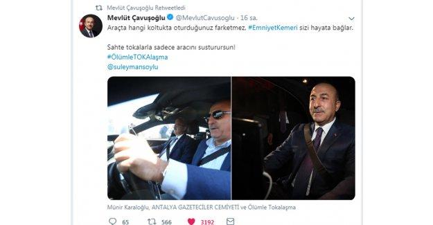 Çavuşoğlu'ndan kampanyaya destek