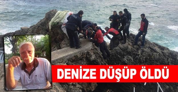 Denize düşüp öldü