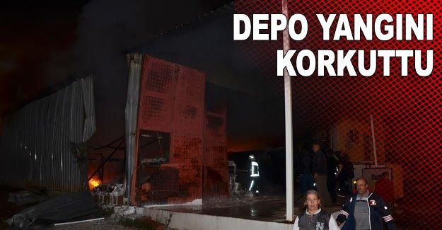 Depo yangını korkuttu