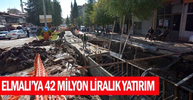 Elmalı'ya 42 milyon liralık yatırım