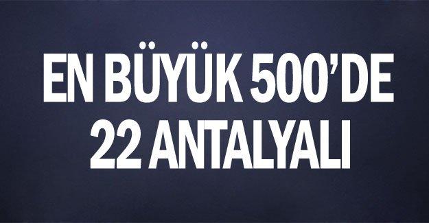 En büyük 500'de 22 Antalyalı