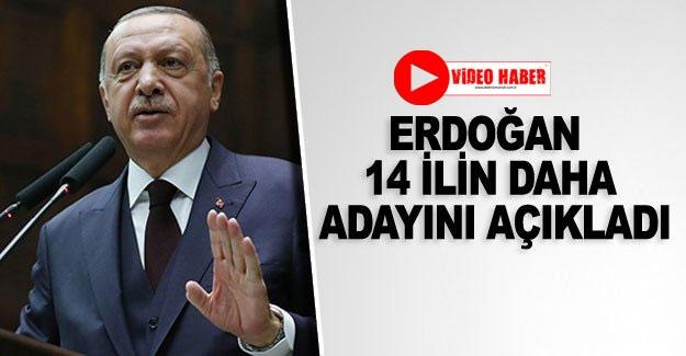 Erdoğan 14 ilin daha adayını açıkladı