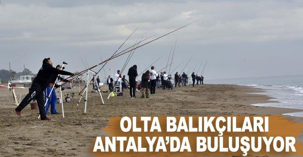 Olta balıkçıları Antalya'da buluşuyor