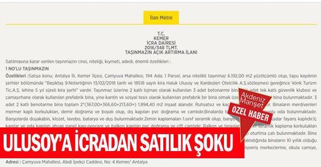 Ulusoy'a icradan satılık şoku