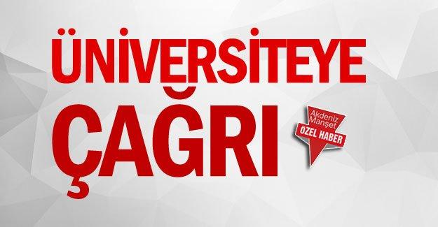 Üniversiteye çağrı