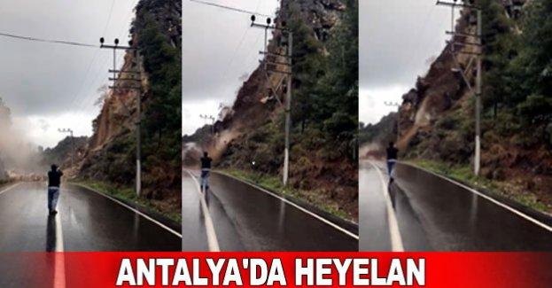 Antalya'da heyelan