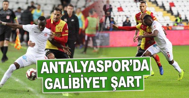 Antalyaspor'da galibiyet şart