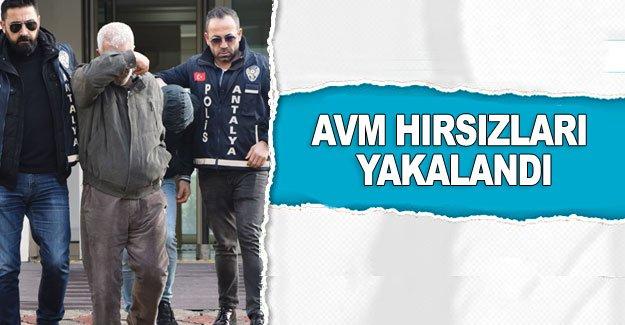 AVM hırsızları yakalandı