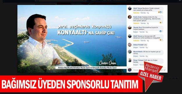Bağımsız üyeden sponsorlu tanıtım