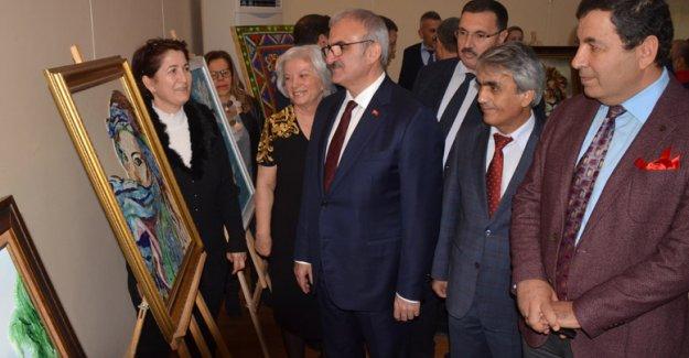 Cam mozaik  sergisi açıldı