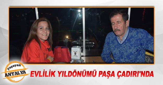 Evlilik yıldönümü Paşa Çadırı'nda