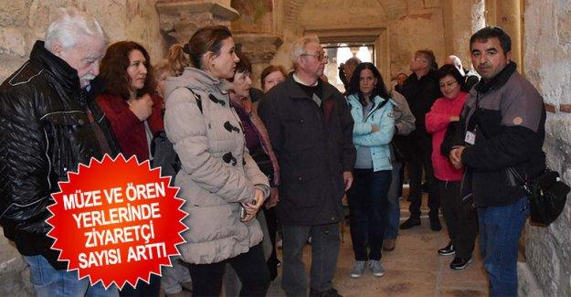 Müze ve ören yerlerinde ziyaretçi sayısı arttı