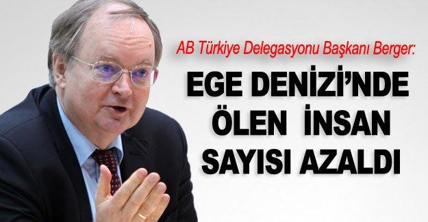 AB Türkiye Delegasyonu Başkanı Berger: Ege Denizi'nde ölen  insan sayısı azaldı