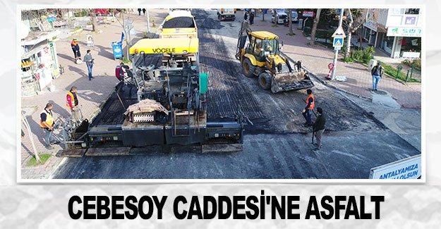 Cebesoy Caddesi'ne asfalt