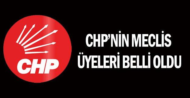 CHP'nin meclis üyeleri belli oldu
