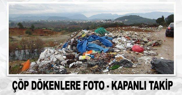 Çöp dökenlere foto - kapanlı takip