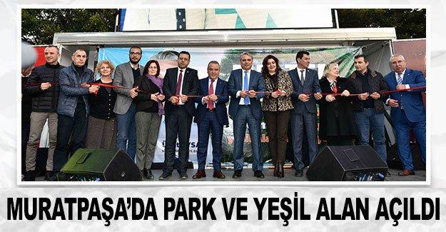 Muratpaşa'da park ve yeşil alan açıldı