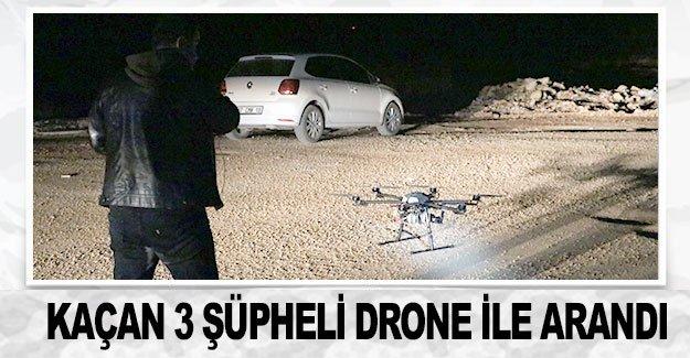 Ormana kaçan 3 şüpheli drone ile arandı