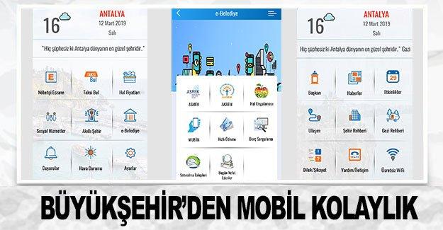 Antalya Büyükşehir Belediyesi'nden mobil kolaylık