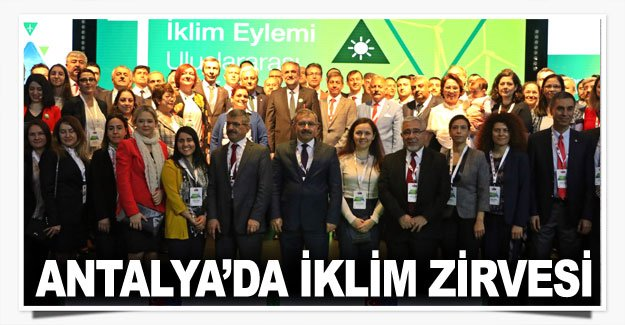 Antalya'da iklim zirvesi