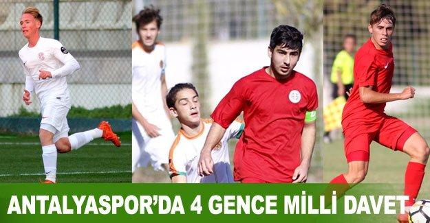 Antalyaspor'da 4 gence milli davet