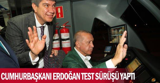 Cumhurbaşkanı Erdoğan test sürüşü yaptı