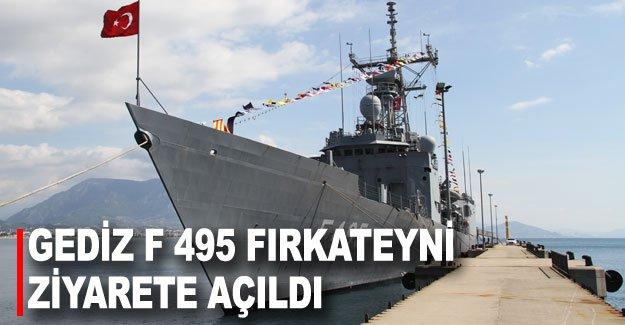 Gediz F 495 Fırkateyni ziyarete açıldı