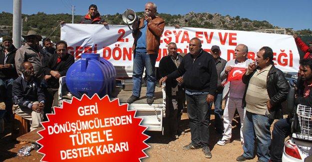 Geri dönüşümcülerden Türel'e destek kararı