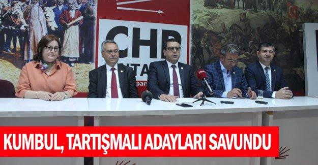Kumbul, tartışmalı adayları savundu