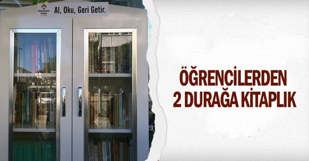 Öğrencilerden 2 durağa kitaplık