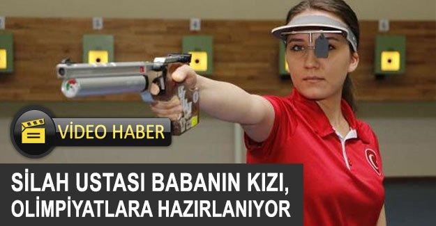 Silah ustası babanın kızı, olimpiyatlara hazırlanıyor