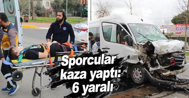Sporcular kaza yaptı: 6 yaralı