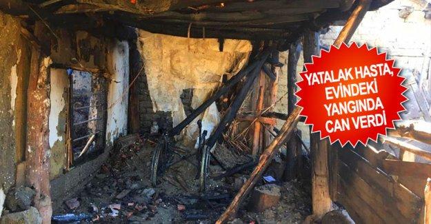 Yatalak hasta, evindeki yangında can verdi
