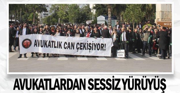 Avukatlardan sessiz yürüyüş