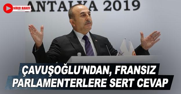 Bakan Çavuşoğlu'ndan, Fransız parlamenterlere sert cevap