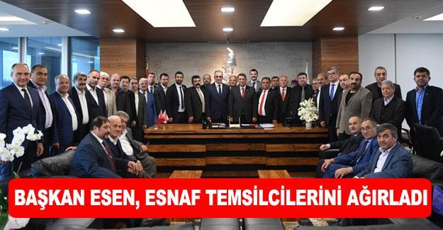 Başkan Esen, esnaf temsilcilerini ağırladı