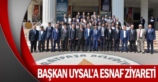Başkan Uysal'a esnaf ziyareti