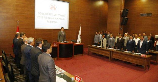Döşemealtı'nda yeni dönemin ilk meclisi