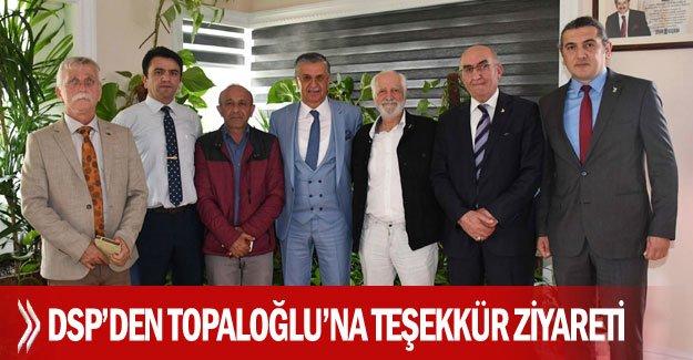DSP'den Topaloğlu'na teşekkür ziyareti