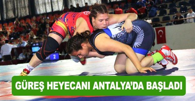 Güreş heyecanı Antalya'da başladı
