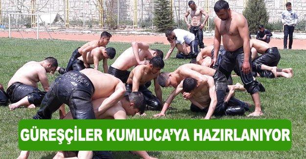 Güreşçiler Kumluca'ya hazırlanıyor