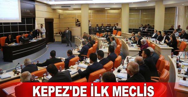 Kepez'de ilk meclis