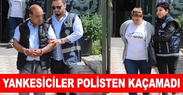 Yankesiciler polisten kaçamadı