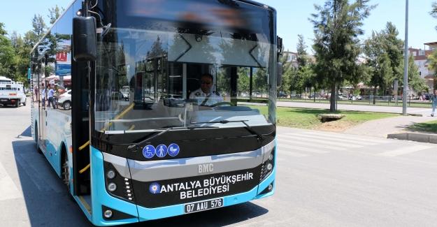 Antalya'da ulaşım ücretsiz