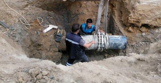 Avsallar'da içme suyu hattı yenilendi