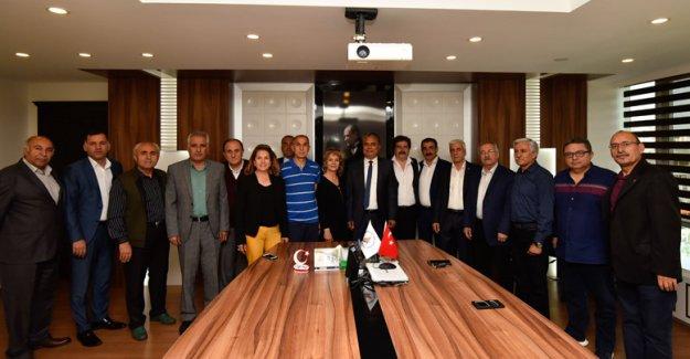 Dernek başkanları Uysal'la buluştu