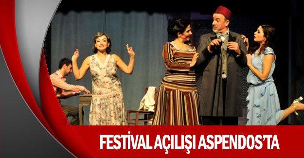Festival açılışı Aspendos'ta