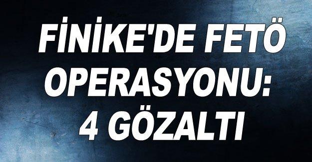 Finike'de FETÖ operasyonu: 4 gözaltı