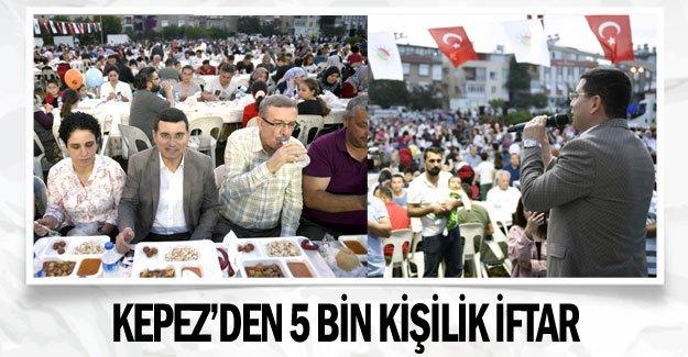 Kepez'den 5 bin kişilik iftar