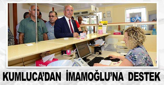 Kumluca'dan  İmamoğlu'na  destek